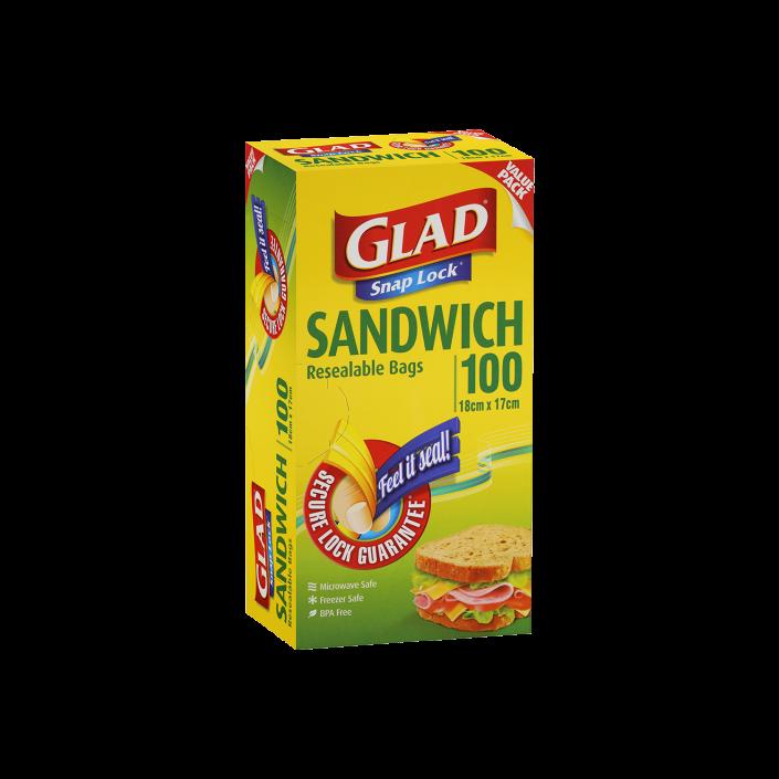 Glad® Snap Lock® Reseal Bags – Sandwich 100pk