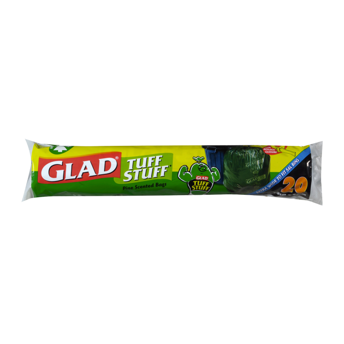 Glad® Tuff Stuff® Garbage Bags 20pk