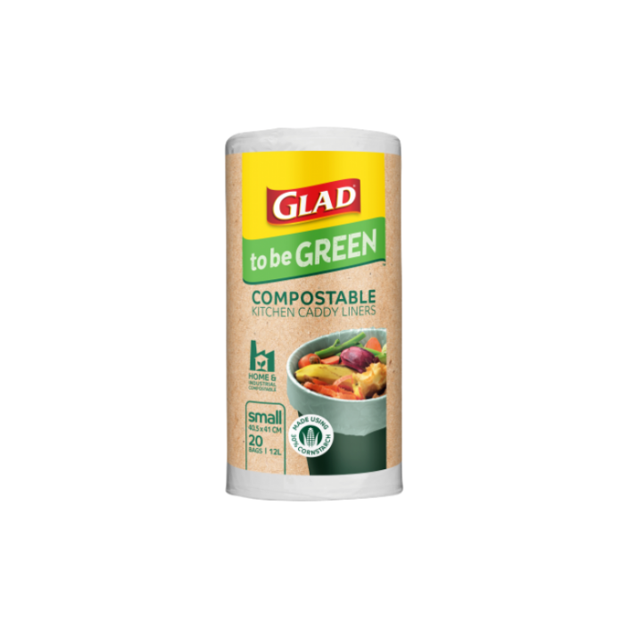 Glad to be Green® Compostable Kitchen Caddy Liners Small 20pk