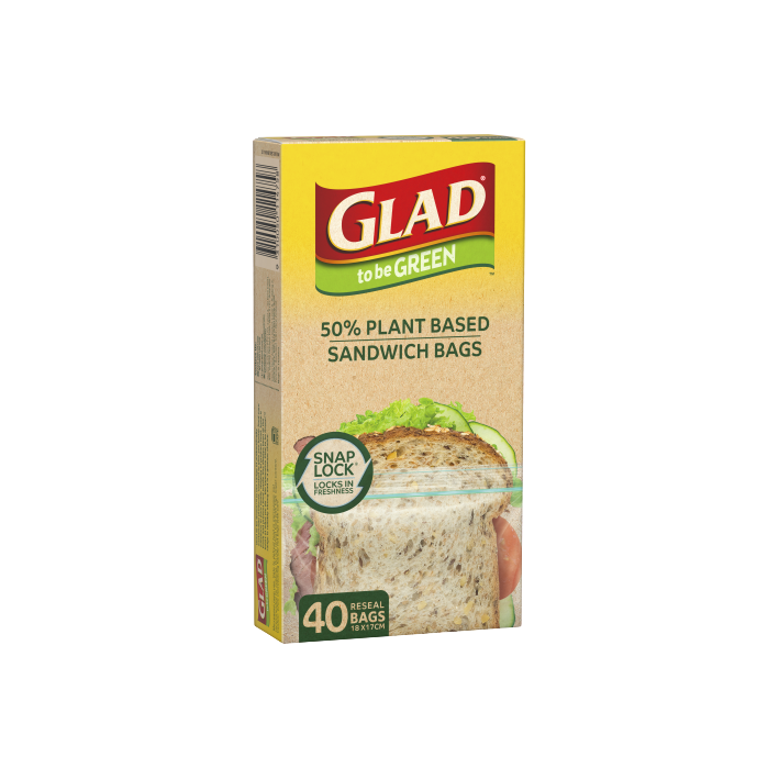Glad to be Green® Plant Based Reseal Bag – Sandwich 40pk