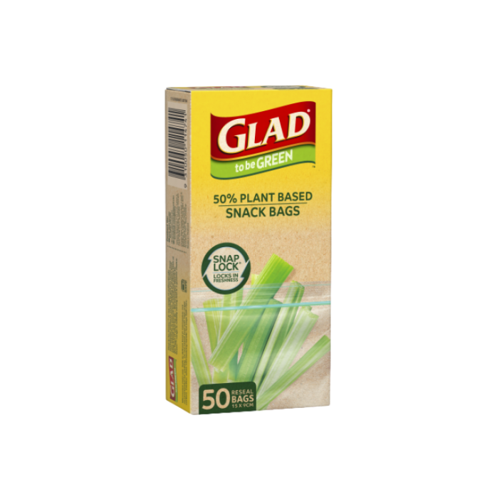 Glad to be Green® Plant Based Reseal Bag – Snack 50pk