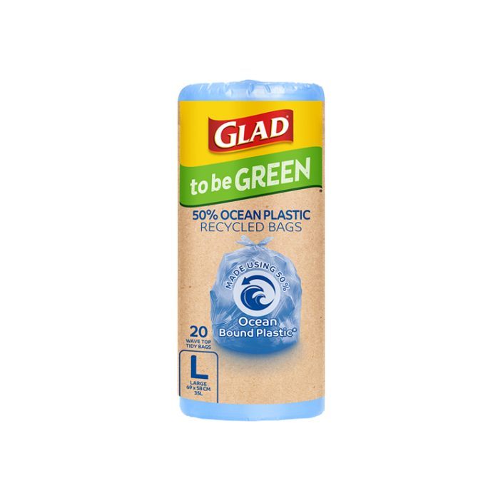 Glad to be Green® 50% Ocean Recycled Bags Large 20pk