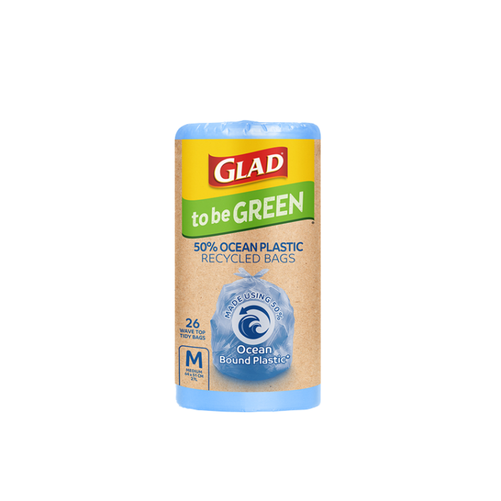 Glad to be Green® 50% Ocean Recycled Bags Medium 26pk